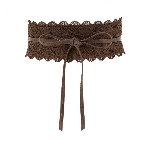 Woman Lace waisband Obi Belt, FLORITA