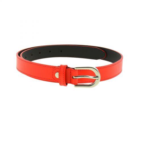 Women genuine Italian leather belt LUNA, Made in France