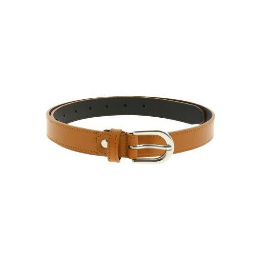 Cinturón para mujer en cuero italiano, LUNA, Fabricado en Francia