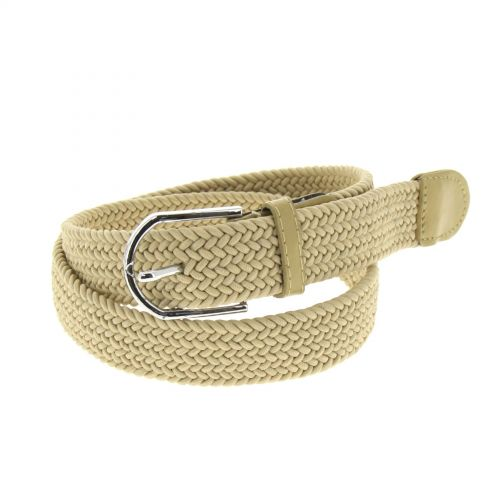 woman braided stretch belt, Norine
