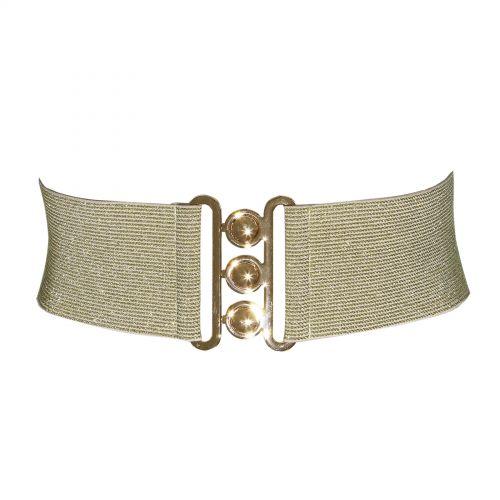 Wide Waist Elasticated Woman Belt Made in France, GLORIA