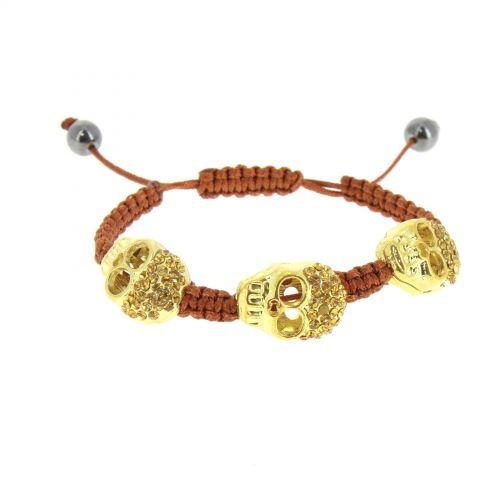 Bracelet tressé, Tête de mort, AOH-59