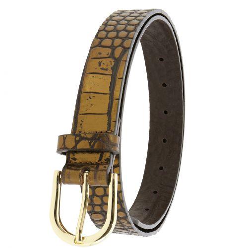 Cintura da donna in pelle di toro, concia vegetale, cintura da donna larga 3 cm, cintura per jeans, pantaloni, RIVOLI