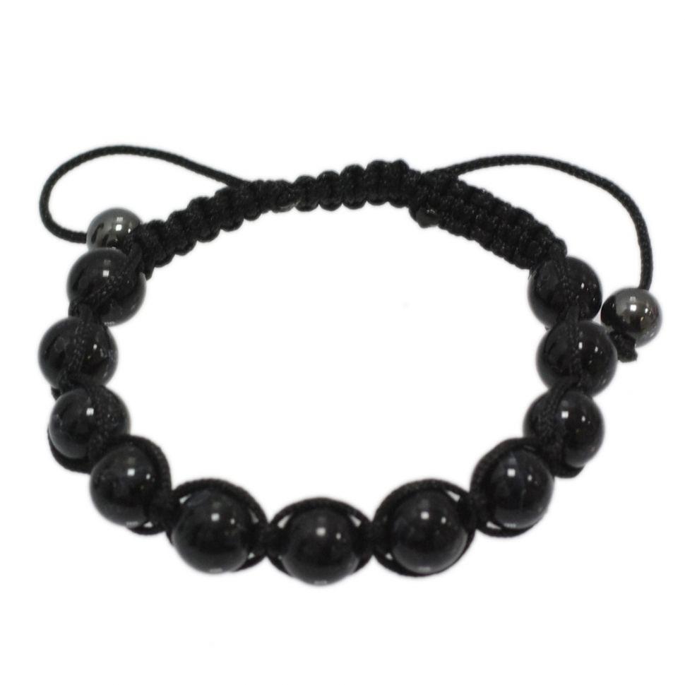 Bracelet shamballa Pierre, SAT-101 Noir-noir - 1860-6151