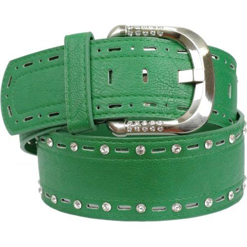 Strass wide leatherette belt, CAJA