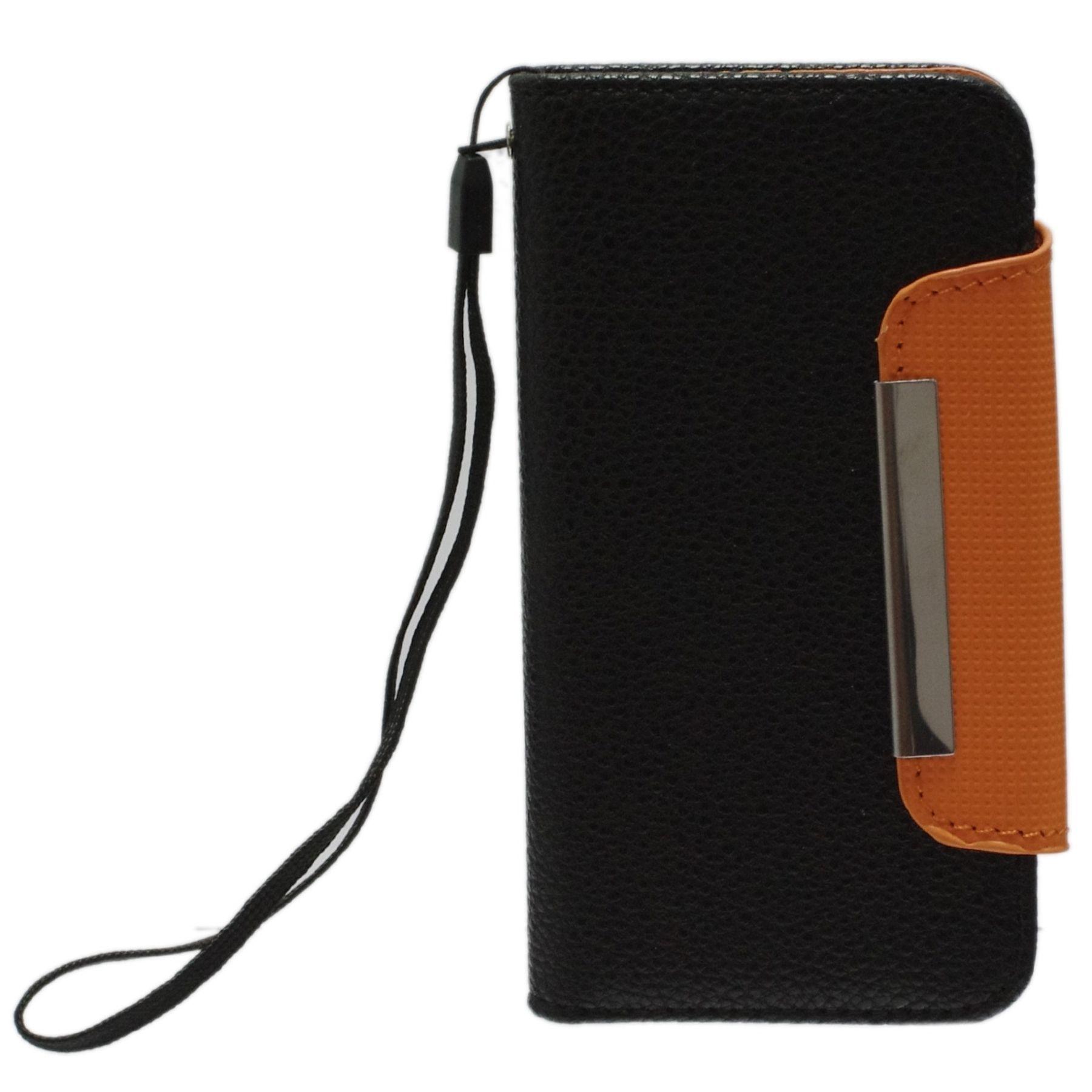 Housse iphone 5 avec porte carte noir for Housse iphone 5