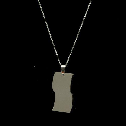 Collana in acciaio inossidabile, pendente Modifica