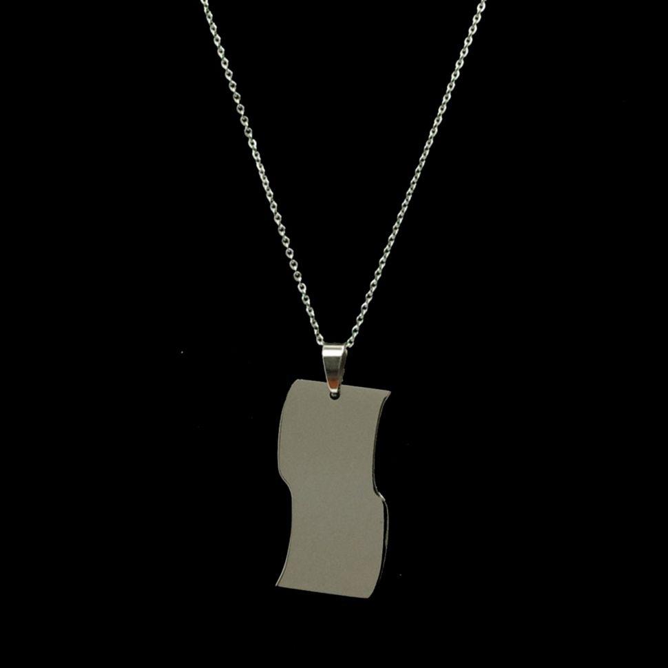 Collier acier inoxydable, pendentif Edit