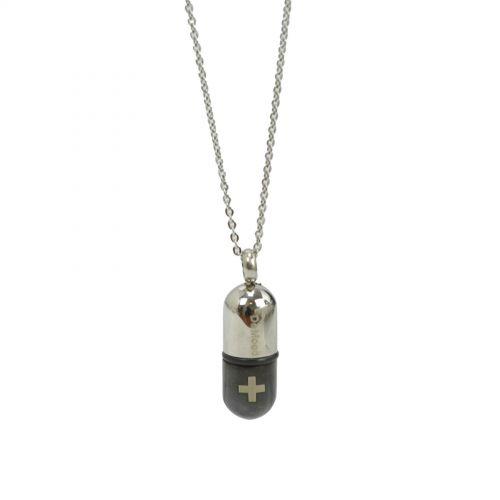 Collier acier inoxydable, pendentif portable