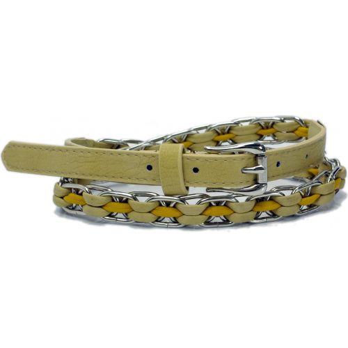 Cinturón imitación cuero Carmen