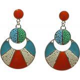 Boucles d'oreilles, perles 2846 bleu