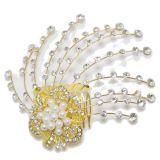 Bijoux de cheveux, fleurs à perles, strass, 2033 OR