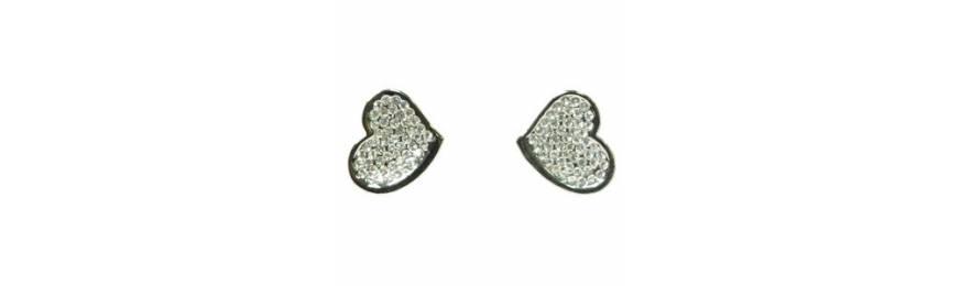 Boucles d'oreilles rhodiés